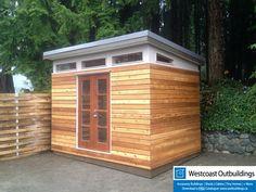 8'x12' Lifestyle Utility Shed  Cedar Siding, Open-Joint Siding, clerestory…