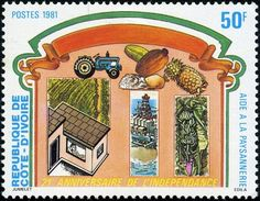 Timbre: 21st Anniversary of Independence (Côte d'Ivoire) (21st Anniversary of Independence) Mi:CI 712,Sn:CI 617