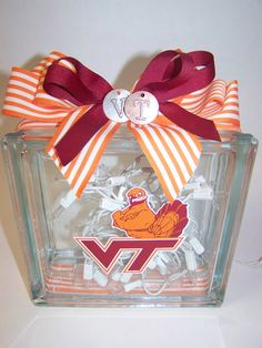 Virginia Tech Hokies Lighted Glass Block. $35.00, via Etsy.