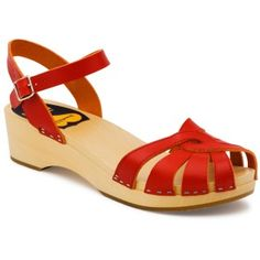 SWEDISH HASBEENS - CROSS STRAP DEBUTANT - RED