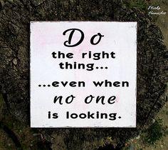 Tabuľka Do the right thing
