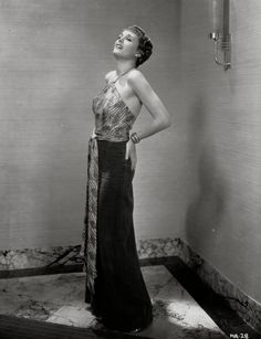 Mary Astor in a stunning evening gown, 1930s.