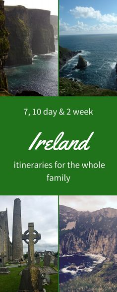 my ireland itinerary includes the cliffs of Moher, three castle head, historical sites and Slieve league cliffs.