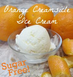 Sugar-free orange creamsicle ice cream (sweetened with natural stevia and xylitol)