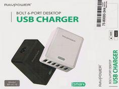 Josefine 21 Test Blog: RAVPower 50W 5V / 10.2A 6-Port USB Ladegerät mit i...