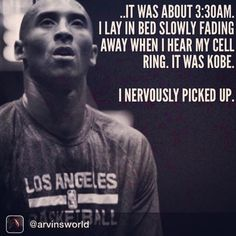 Rest in Peace Kobe. - A story about Kobe Bryant, as told by a professional trainer who worked with Bryant for the Olympics: . I lay. Kobe Quotes, Kobe Bryant Quotes, Bryant Lakers, Kobe Bryant Nba, Basketball Quotes, Basketball Players, Kobe Basketball, Bryant Basketball, Basketball Legends