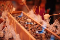 Outdoor S'mores Bar idea!! SO CUTE!    TonieChristinePhotography.OutdoorSmoresbar.KarmaVineyardsWeddingChelan_0104