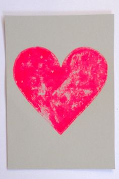 Hand printed gold heart not framed. Gold Heart, Heart Print, Hearts, Neon, Unique Jewelry, Handmade Gifts, Printed, Frame, Wall