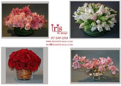 Centerpiece Design Flower Gifts www.irisrosin.com