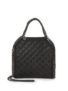Stella McCartney - Falabella Mini Baby Bella Quilted & Studded Faux Leather Shoulder Bag