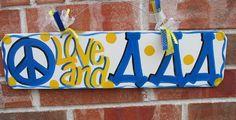 peace love tri delta wall decor