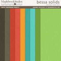 Bessa Solids Paper Pack- Maplebrook Studios Papers- PP180581- DesignerDigitals