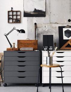 Ikea alex dream studio home office design, ikea alex, workspace inspiration. Home Office Storage, Home Office Design, Home Office Decor, Home Decor, Office Art, Office Ideas, Office Designs, Office Furniture, Office Setup