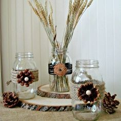 Create a stunning fall decoration with this step by step tutorial on creating pine cone flowers.