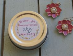 Beeswax Perfume, Solid Perfume, Botanical Perfume, Blessings Perfume, Joy by JanesAromaScents on Etsy