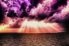 Omnipotent by FedeSK8, via Flickr #cloud #violet #red #light #sea