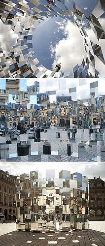 Ring installation by Arnaud Lapierre photo art abstract architecture photography contemporary artwork artist Land Art, Vitrine Design, Instalation Art, Urbane Kunst, Wow Art, Art And Architecture, Installation Architecture, Street Installation, Glass Installation