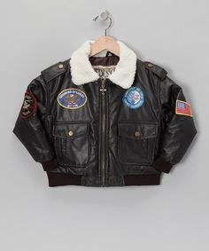 Aw, Rin had one of these when he was little. My dad got it for him because it had an Apache patch on the sleeve. <3 -Take a look at this Outdoor Habitat Brown Bomber Jacket -