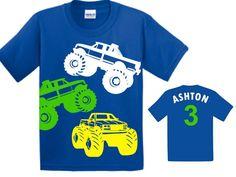 Monster Truck Birthday Shirt Monster truck shirt Monster by CRAAUS