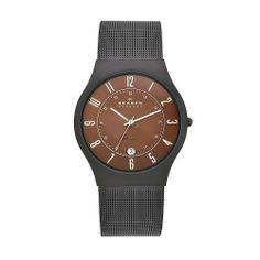 Skagen Men's 233XLTMD Denmark Silvertone Mesh Brown Dial Watch Skagen, http://www.amazon.com/dp/B004Q8MQ18/ref=cm_sw_r_pi_dp_9rLQqb1XN9D39