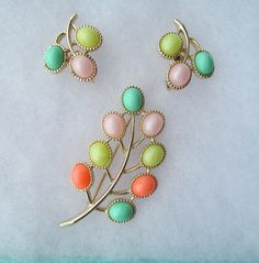 Sarah Coventry Candy Land vintage jewelry set by lolatrail on Etsy, $18.00