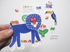 Jungle stickers by steffiebrocoli on Etsy
