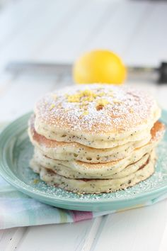 An extra special lemon ricotta pancake for an extra special someone! Baby Food Recipes, Dessert Recipes, Cooking Recipes, Keto Recipes, Eat Breakfast, Breakfast Recipes, Pancake Recipes, Breakfast Ideas, Lemon Ricotta Pancakes