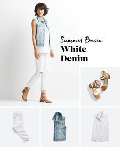 Love this look! I have white jeans, but could use the denim vest for an updated look.