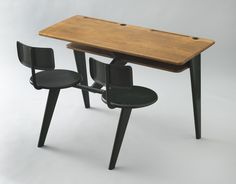 by Jean Prouve. School desk. MoMA