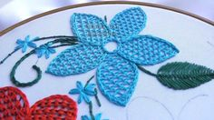 HAND EMBROIDERY NET STITCH \ ВЫШИВКА :ПЛЕТЕНИЕ ИГЛОЙ - YouTube