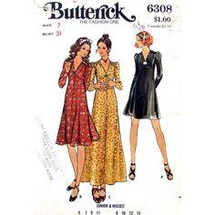 Fit & Flare Dress Pattern Butterick 6308 by finickypatternshop