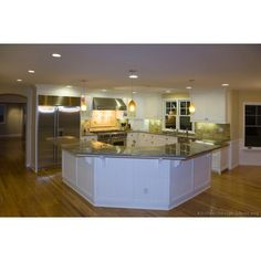 Could do this with Nanny's kitchen, maybe pull it out and add a little island? …