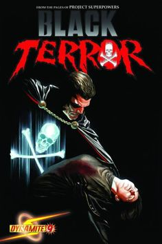 The cover to Black Terror #9 (2010), art by Alex Ross