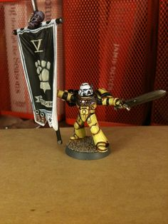 Fists, Imperial, Imperial Fists, Space Marines, Standard, Standard Bearer, Warhammer 40,000