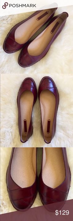 Frye Ember Cross Bordeaux Leather Ballet Flats New In Box- Bordeaux leather flat with rounded toe, crisscross detail and leather lined padded insole. Frye Shoes Flats & Loafers