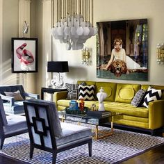 This living room is full of colors. The coffee table in the center of decoration fits perfectly. #homedecorideas #coffeetables #interiordesign