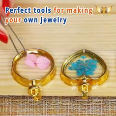 5x Flat Head Jewelry Ring Mold Resin Casting Candy Crafts DIY Mold 5 Sizes