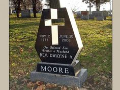 Custom Headstone Designed for One Grave