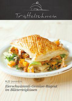 Eierschwämmli-Gemüse-Ragout im Blätterteigkissen #chanterelle