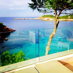 Not a bad view from one of the VIP terraces in CLUB HOTEL PORTINATX IBIZA Time to sit back, relax and have a massage at our Spa. #cliniquespa #holiday #hotelclubportinatx #spoilyourself