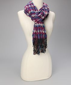 Take a look at this Purple Dot Scarf by Finish the Look: Accessories on #zulily today!