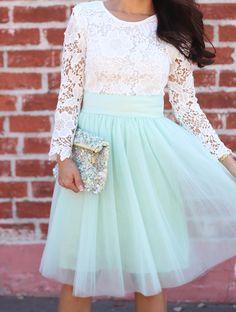 Lace and Tulle - Stylish Petite Modest Outfits, Modest Fashion, Cute Outfits, Apostolic Fashion, Style Fashion, Cute Skirts, Cute Dresses, Beautiful Dresses, Stylish Petite