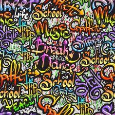 Graffiti word seamless pattern Premium V. Graffiti Creator, Graffiti Words, Vector Pattern, Vector Free, Walls, Abstract, Paper, Summary