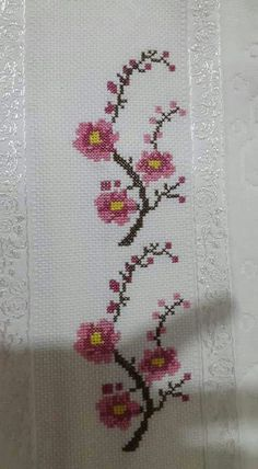 The most beautiful cross-stitch pattern - Knitting, Crochet Love Cross Stitch Letters, Cross Stitch Bookmarks, Cross Stitch Borders, Cross Stitch Samplers, Modern Cross Stitch, Cross Stitch Flowers, Cross Stitch Designs, Cross Stitching, Cross Stitch Embroidery