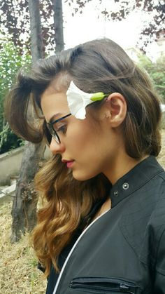 #hair #flower #hairstyle #gizemcimen