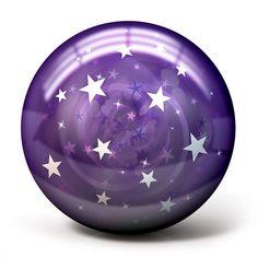 Purple Stars - bowlingball