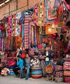 BEAT THE BLUES! Explore the colourful souks in Marrakech, Morocco. Shop for all sorts of knick knacks such as antiques, leather goods, spices and even perfumes! Photo Credit: via Pinterest ‪#‎morocco‬ ‪#‎markets‬ ‪#‎souks‬ ‪#‎gourmettrails‬