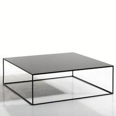 Vierkante lage tafel in metaal, Romy