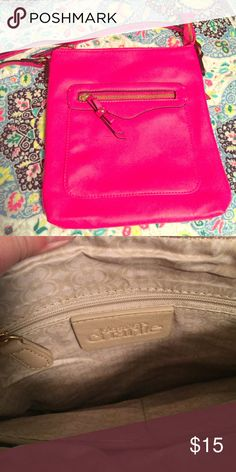 Hot pink crossbody Nwot Charming Charlie hot pink crossbody purse! Perfect condition! Charming Charlie Bags Crossbody Bags