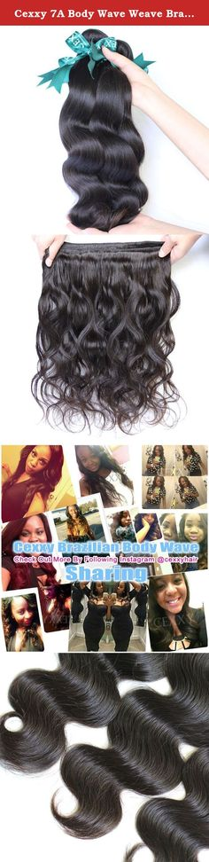 """Cexxy 7A Body Wave Weave Brazilian Remy Hair 3 Bundles for Black Women Natural Color Size 10""""-30"""" Inches. Are you looking for high quality hair extensions? You are now making right decision to shop with Cexxy!You Can Buy Real Good Hair Worth The Money You Paid Here. All Cexxy hair is 100% virgin hair,can be dyed or bleached well,in natural state,in natural color.Its material is collected from its origin by professionals,all is cut from young ladies,washed twice with warm water and..."""